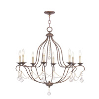 Livex 6428-71 Chesterfield 8 Light 32 inch Venetian Golden Bronze Chandelier Ceiling Light