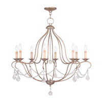 Livex Lighting Chesterfield 8 Light Chandelier in Antique Silver Leaf 6428-73