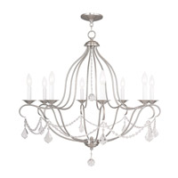 Livex 6428-91 Chesterfield 8 Light 32 inch Brushed Nickel Chandelier Ceiling Light