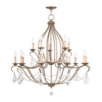 Chesterfield 15 Light 38 inch Antique Gold Leaf Chandelier Ceiling Light