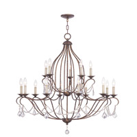 Livex Lighting Chesterfield 15 Light Chandelier in Venetian Golden Bronze 6429-71