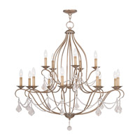 Livex 6429-73 Chesterfield 15 Light 38 inch Antique Silver Leaf Chandelier Ceiling Light