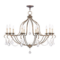 Livex Lighting Chesterfield 10 Light Chandelier in Venetian Golden Bronze 6430-71