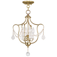 Livex Lighting Chesterfield 4 Light Pendant/Ceiling Mount in Polished Brass 6434-02
