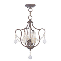 Livex Lighting Chesterfield 4 Light Pendant/Ceiling Mount in Venetian Golden Bronze 6434-71