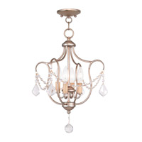Livex Lighting Chesterfield 4 Light Pendant/Ceiling Mount in Antique Silver Leaf 6434-73