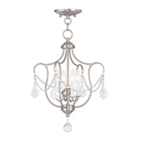 Livex 6434-91 Chesterfield 4 Light 14 inch Brushed Nickel Pendant/Ceiling Mount Ceiling Light