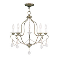 Livex Lighting Chesterfield 5 Light Chandelier in Antique Brass 6435-01