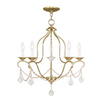 Livex Lighting Chesterfield 5 Light Chandelier in Polished Brass 6435-02