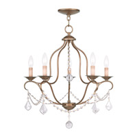 Livex Lighting Chesterfield 5 Light Chandelier in Antique Gold Leaf 6435-48