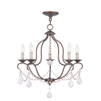 Livex 6435-71 Chesterfield 5 Light 22 inch Venetian Golden Bronze Chandelier Ceiling Light