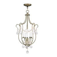 Livex Lighting Chesterfield 5 Light Foyer Pendant in Antique Brass 6436-01