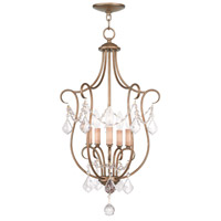 Livex Lighting Chesterfield 5 Light Foyer Pendant in Antique Gold Leaf 6436-48