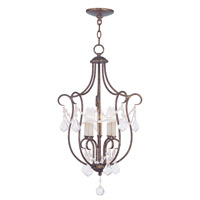 Livex 6436-71 Chesterfield 5 Light 16 inch Venetian Golden Bronze Foyer Pendant Ceiling Light