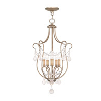 Livex 6436-73 Chesterfield 5 Light 16 inch Antique Silver Leaf Foyer Pendant Ceiling Light