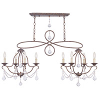 Livex 6437-71 Chesterfield 8 Light 43 inch Venetian Golden Bronze Island/Chandelier Ceiling Light