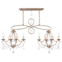 Livex 6437-73 Chesterfield 8 Light 43 inch Antique Silver Leaf Island/Chandelier Ceiling Light