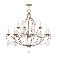 Livex Lighting Chesterfield 12 Light Chandelier in Antique Gold Leaf 6438-48