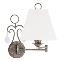 Livex Lighting Chesterfield 1 Light Swing Arm Wall Lamp in Venetian Golden Bronze 6440-71