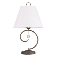 Livex Lighting Chesterfield 1 Light Table Lamp in Venetian Golden Bronze 6442-71