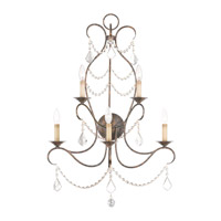 Livex 6445-71 Chesterfield 5 Light 24 inch Venetian Golden Bronze Wall Sconce Wall Light