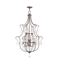 Livex 6449-71 Chesterfield 9 Light 24 inch Venetian Golden Bronze Foyer Pendant Ceiling Light