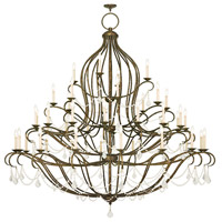 Livex Chesterfield 44 Light Chandelier in Hand Applied Venetian Golden Bronze 6457-71