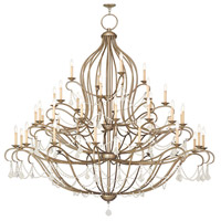 Chesterfield 44 Light 80 inch Antique Silver Leaf Chandelier Ceiling Light