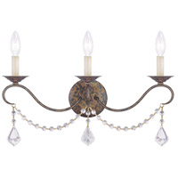 Livex 6458-71 Chesterfield 3 Light 21 inch Venetian Golden Bronze Wall Sconce Wall Light