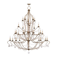 Livex Lighting Chesterfield 30 Light Chandelier in Antique Gold Leaf 6459-48
