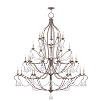 Livex 6459-71 Chesterfield 30 Light 60 inch Venetian Golden Bronze Chandelier Ceiling Light