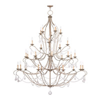 Livex Lighting Chesterfield 30 Light Chandelier in Antique Silver Leaf 6459-73
