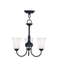 Livex Lighting Ridgedale 3 Light Pendant/Ceiling Mount in Black 6463-04