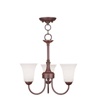 Livex Lighting Ridgedale 3 Light Pendant/Ceiling Mount in Vintage Bronze 6463-70