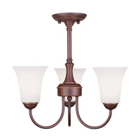 Livex 6463-70 Ridgedale 3 Light 18 inch Vintage Bronze Pendant/Ceiling Mount Ceiling Light alternative photo thumbnail