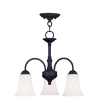 Livex Lighting Ridgedale 3 Light Pendant/Ceiling Mount in Black 6464-04