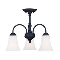 Livex Lighting Ridgedale 3 Light Pendant/Ceiling Mount in Black 6464-04 alternative photo thumbnail