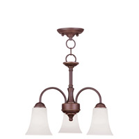 Livex Lighting Ridgedale 3 Light Pendant/Ceiling Mount in Vintage Bronze 6464-70