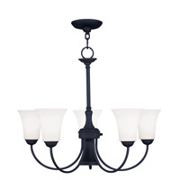 Livex 6465-04 Ridgedale 6 Light 26 inch Black Chandelier Ceiling Light