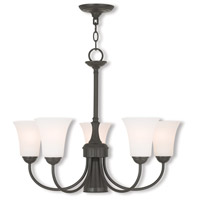 Livex 6465-92 Ridgedale 6 Light 26 inch English Bronze Dinette Chandelier Ceiling Light