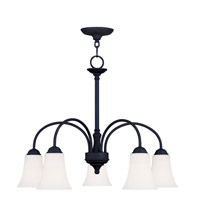Livex Lighting Ridgedale 5 Light Chandelier in Black 6467-04