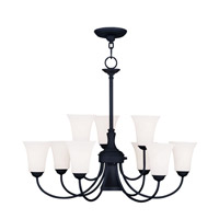 Livex Lighting Ridgedale 10 Light Chandelier in Black 6469-04
