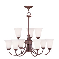 Livex 6469-70 Ridgedale 10 Light 30 inch Vintage Bronze Chandelier Ceiling Light photo thumbnail