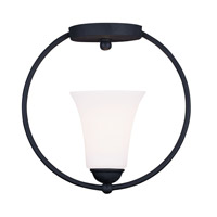 Livex Lighting Ridgedale 1 Light Ceiling Mount in Black 6470-04