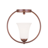 Livex Lighting Ridgedale 1 Light Ceiling Mount in Vintage Bronze 6470-70