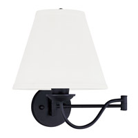 Livex Lighting Ridgedale 1 Light Swing Arm Wall Lamp in Black 6471-04