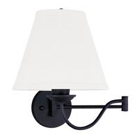 Livex 6471-04 Ridgedale 25 inch 100 watt Black Swing Arm Wall Lamp Wall Light