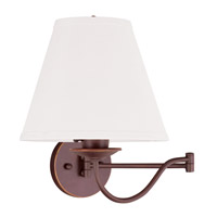 Livex Lighting Ridgedale 1 Light Swing Arm Wall Lamp in Vintage Bronze 6471-70