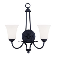 Livex Lighting Ridgedale 2 Light Wall Sconce in Black 6472-04