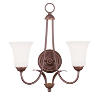 Livex Lighting Ridgedale 2 Light Wall Sconce in Vintage Bronze 6472-70